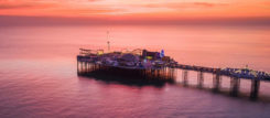 Ariel shot of Brighton Palace Pier.