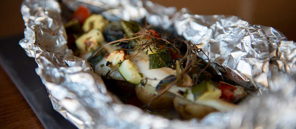 Fish dish at the New Steine Bistro.