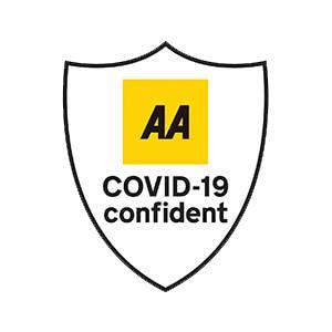 AA COVID Confident logo- New Steine Hotel, Brighton